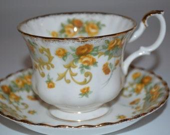 Royal Albert Sheraton Series Marjorie cup and saucer - bone china England teacup