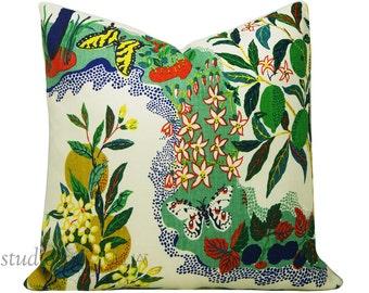 Schumacher Pillow Cover - Citrus Garden -  Josef Frank - 20X20 - linen - floral - butterflies - made to order