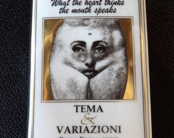 Paperweight Tema e Variazoni by Piero Fornasetti, Italy for Rosenthal - Signed ON SALE