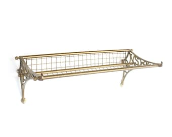 vintage NSWR railroad brass train luggage rack
