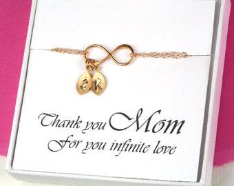 Mother's day gift,Custom monogram infinity charm bracelet,Mother of groom,Gift for mom,mother in law,grandma,nana,Kid,Mother bracelet
