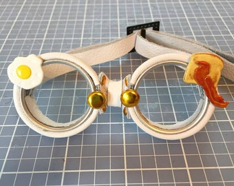 OOAK Blythe White Steampunk Goggles by Kaleidoscope Kustoms