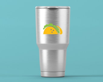 TACO Vinyl Decal, Yeti Cup Decal, Decal for Yeti Cup, Tumbler Decal, Vinyl Sticker