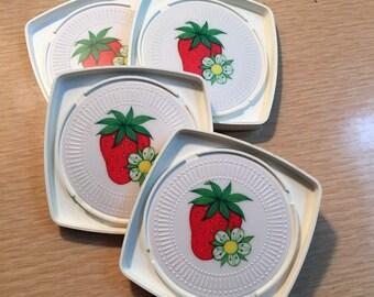 Vintage Strawberry Coasters