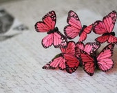 Pink Butterfly Bobby Pin
