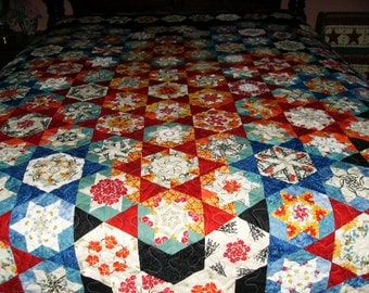 Stack 'n Whack Sisters Pattern King Size Quilt
