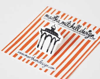 Bandstand Pin Brooch - Brighton Bandstand Brooch - Bandstand Badge - Brighton Jewellery