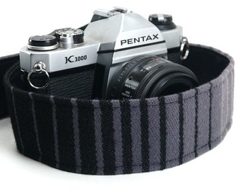 Vintage Volkswagen GTI Camera Strap- Monochrom Black- Made of 35 Year Old Car Upholstery- VW