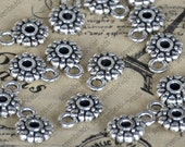 24 pcs of Antique silver Charms bail bead findings,pendant beads,jewelry findings,findings beads,spacers bracelet findings,necklace finding