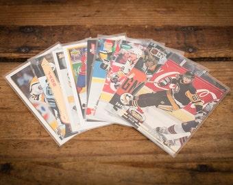 Jaromir Jagr Lot of 9 Hockey Cards, Pittsburgh Penguins, Vintage 90s