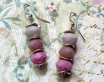 Pink and Lavender Earrings (2458)