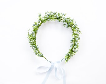 winter berry hair wreath (1) - wedding headpiece, headband, vintage inspired twiggy branch flower crown, festival, bridal, flower girl