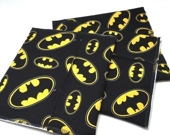 Reusable snack sandwich bags fold over top batman snack bags *BACK IN STOCK*
