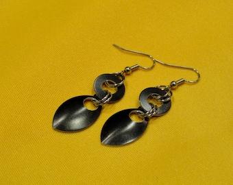 Goddess black stainless steel earrings (Style #501)
