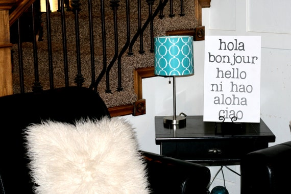 Hello Sign, Hola Sign, Hello Decor, Hello in different Languages, Home Decor, Black & White Sign, Hello, Hola, Bonjour, Ni hao, Aloha, Ciao