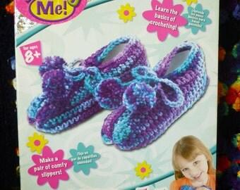 Totally Me! Beginner Crochet Slipper Boxed Kit