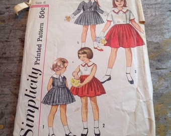 Vintage Simplicity Sewing Pattern 3847 Girl's Size 8 Dress Jacket