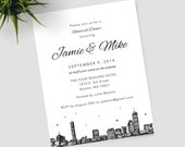 Boston Rehearsal Dinner invitations, customizable for any occasion; includes matching envelopes and return address printing
