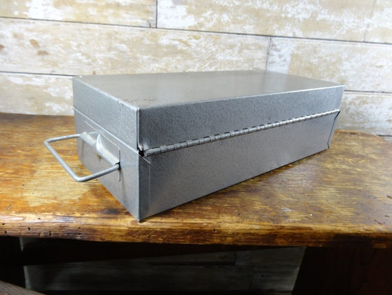 Vintage File Box Silver With Key