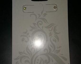 Yellow 3mm Gemstone Sterling Silver Earrings