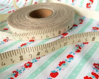 """5/8""""Zakka measuring tape natural linen ribbon"""