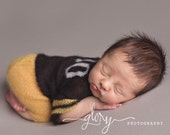Newborn photo prop, Newborn football set, mohair