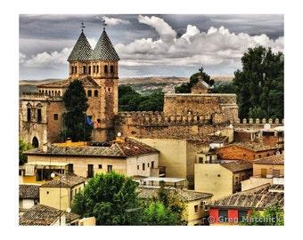 Fine Art Digital Print of View From Toledo Spain