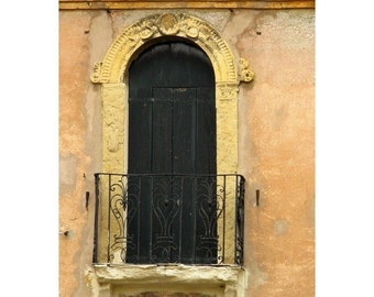 Fine Art Color Architecture Photography of Crumbling Window in Padua Italy