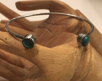 Turquoise Open Face Cuff- turquoise bracelet, turquoise cuff, gemstone cuff, sterling silver, sterling cuff, inner earth jewelry, cuff brace