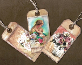 Divine rose gift tag set