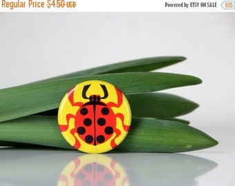 50% OFF Ladybug, adorable pin from USSR