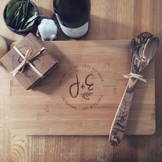 Wedding Gifts For Kitchen : ... Set - Personalized Wedding Gift, Custom Engraved Gift for Couple