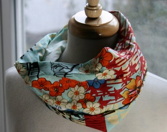 Cotton Japanese Fabric Design Infinity Scarf