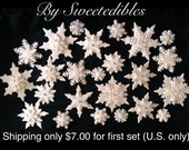 Gumpaste Snowflakes in Assorted Sizes and Style