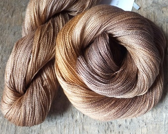 Vintage Copper - Hand Dyed Silk Lace Yarn