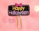 Happy Halloween Glitter Planner Clip