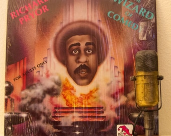 """ON SALE Richard Pryor Vinyl Record Album Lp 1970s Adults Only Comedy XXX Laughs Crazy Humor """"The Wizard Of Comedy"""" (1978 Laff Records w/""""Chu"""