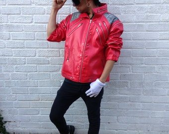 Original Rare Michael Jackson Oficialy Licensed Product Red Beat It Jacket Free Shipping