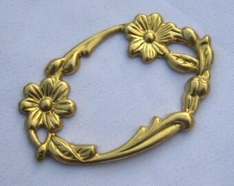 6pcs 26x44mm Raw Brass Filigree Flower Findings Jewelry Design bf030