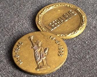 Liberalism. Liberty. Vintage commemorative medal.