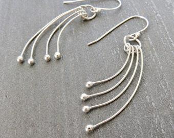 Falling Drops Earrings - Be Still Earrings -  Sterling Drops Earrings - Mother's Day Gift For Her