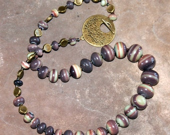 Botswana Agate Bead Necklace