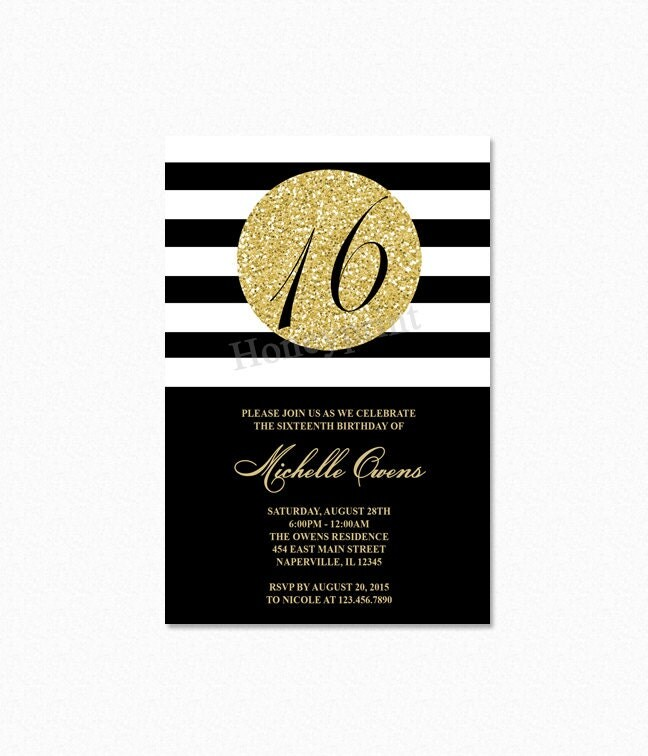 th birthday invite  etsy, Party invitations
