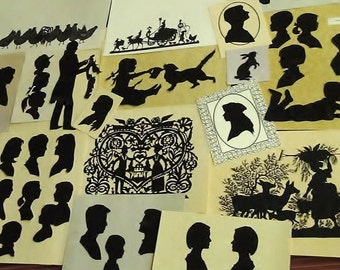 Custom Hand Cut Silhouette Portrait - Create An Heirloom Keepsake Today