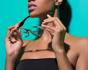 Emmanuel Vaughn's Spike Leigh - custom sunglasses - eyewear - personalized - bachelorette - fashion - spike glasses - dope - swag - stylish