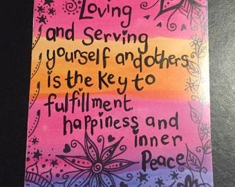 The law of attraction, secret manifestation and prosperity art print, rainbow hippy