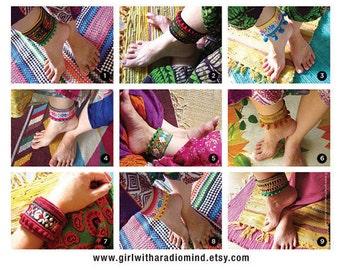 Boho Anklet / Hippie Bracelet - Free Size Adjustable to any size