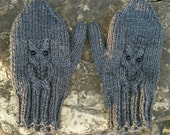 Owl Mittens Mitts Ladies Custom Color