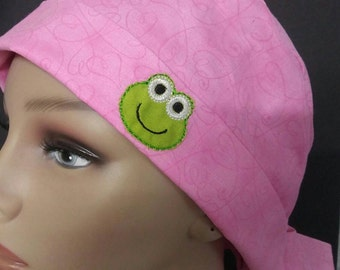 Frog pink pixie style hat