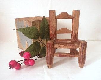 Antique Appalachian Miniature Stick Chair Handmade Primitive Rustic Country Folk Art
